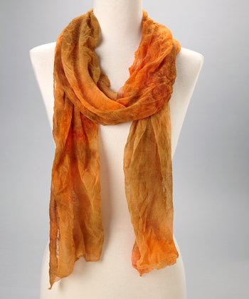 Orange Water Color Scarf