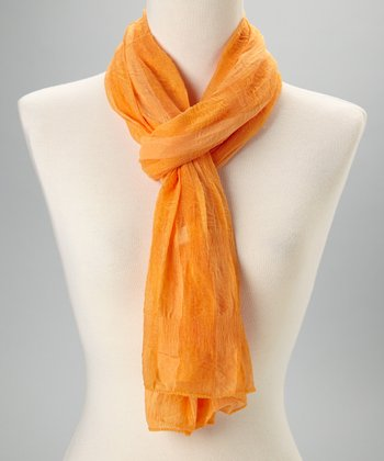 Orange Lite Stripe Scarf