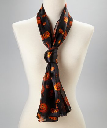 Black & Orange Pumpkin Scarf