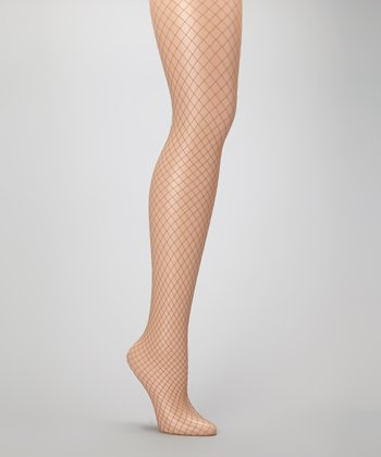 Nero Macrolosange Fishnet Tights