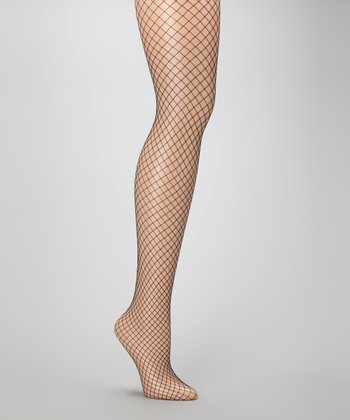 Nude Macrolosange Fishnet Tights