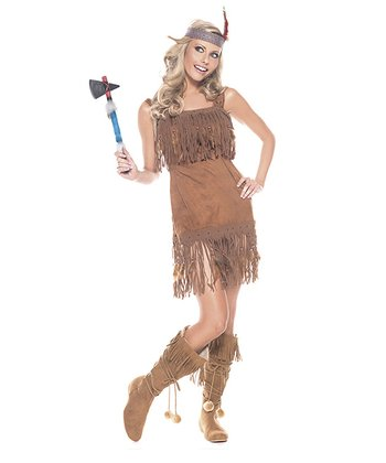 Brown Tribal Princess Dress Set