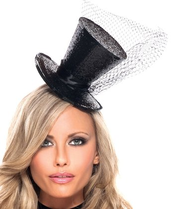 Black Fascinator Top Hat