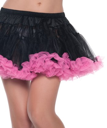 Black & Pink Sheer Kate Petticoat