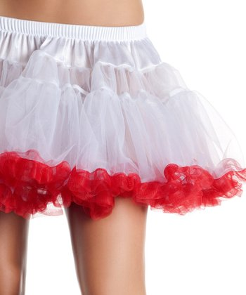 White & Red Sheer Kate Petticoat