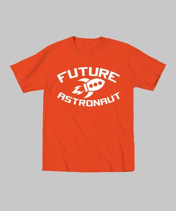 Orange 'Future Astronaut' Rocket Tee - Toddler & Kids