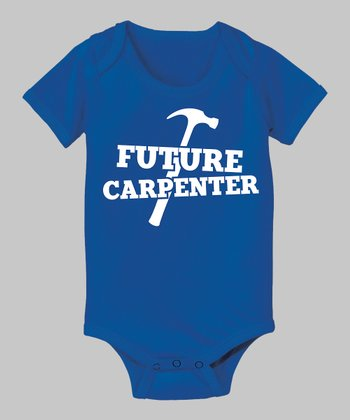 Royal Blue 'Future Carpenter' Bodysuit - Infant