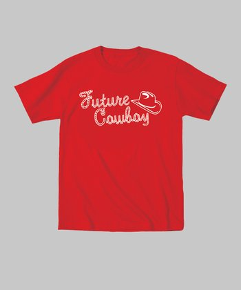 Red 'Future Cowboy' Tee - Toddler & Kids