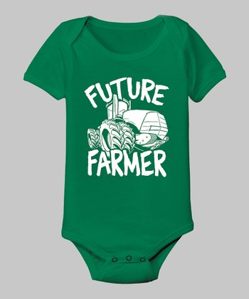 Kelly Green 'Future Farmer' Bodysuit - Infant