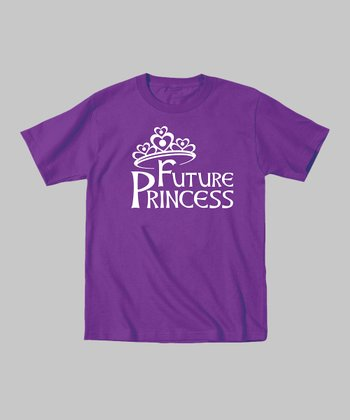 Purple 'Future Princess' Tee - Toddler & Kids