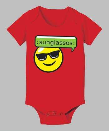 Red 'Sunglasses' Bodysuit - Infant