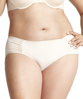 Parisa Skin Body Veil Shirred Bikini Briefs - Women & Plus