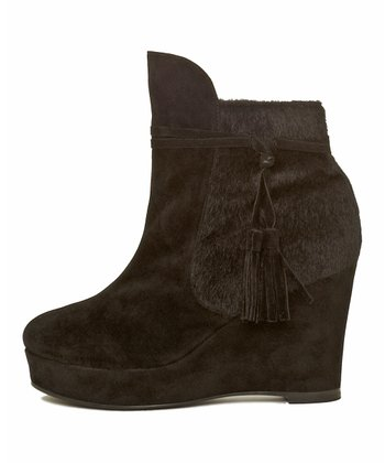 Black Brynn Wedge Bootie