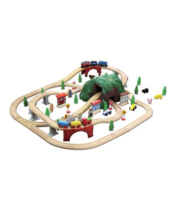 Mountain Wood Train Set