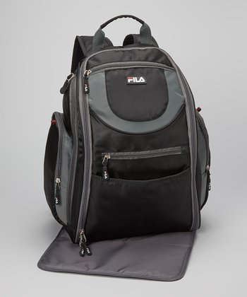 Black & Gray Diaper Backpack