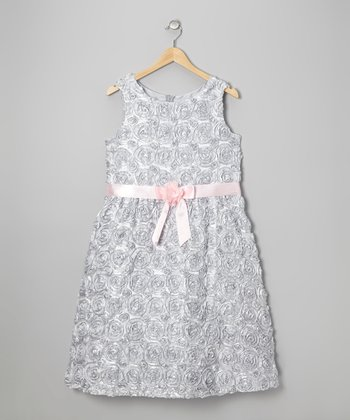 Silver Soutach Dress - Girls' Plus