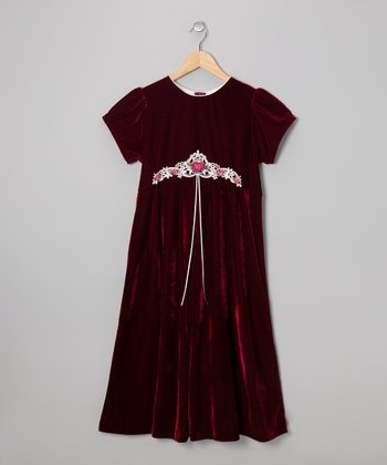 Burgundy Babydoll Dress - Girls' Plus