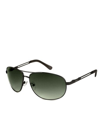 Gunmetal Wire Frame Sunglasses