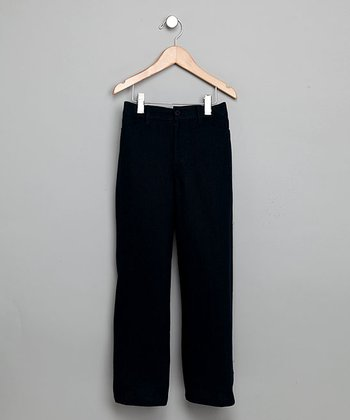 Navy Linen Pants - Boys