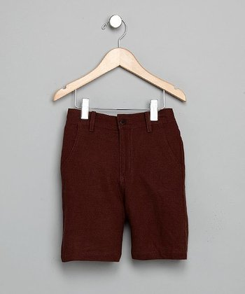 Cocoa Linen Shorts - Boys