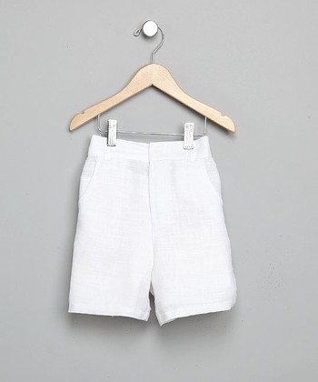 White Linen Shorts - Infant, Toddler & Boys