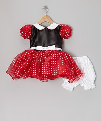 Red & Black Polka Dot Dress-Up Set - Infant, Toddler & Girls