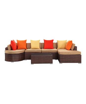 Mocha Montana Six-Piece Sectional Sofa Set