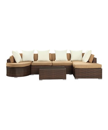 Tan Montana Six-Piece Sectional Sofa Set