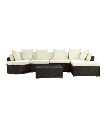 White Montana Six-Piece Sectional Sofa Set