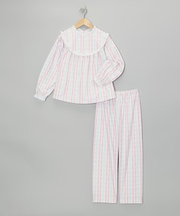 Light Pink Tyrolean Pajama Set - Girls