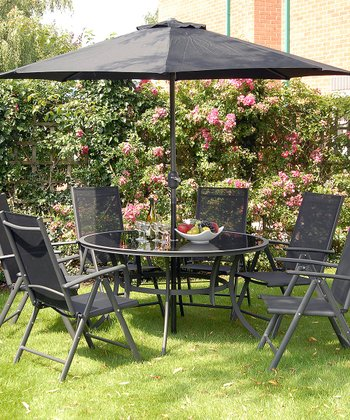 Black Palma Eight-Piece Dining Set