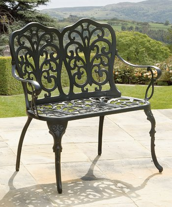 Black Cast Aluminum Bench