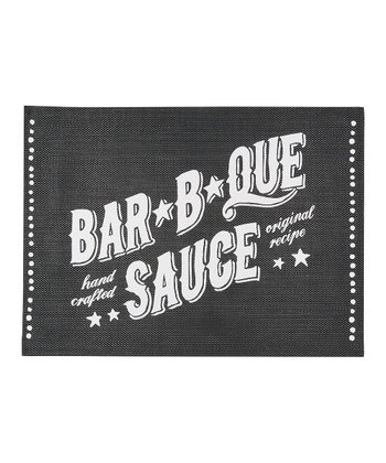 Black 'Bar-B-Que Sauce' Place Mat - Set of Four