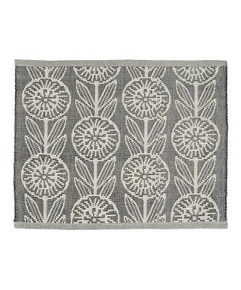 Black Jacquard Posy Place Mat - Set of Four