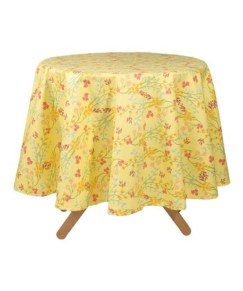 Secret Garden Coated Tablecloth