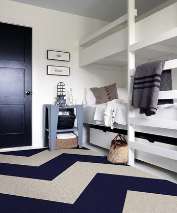Indigo & Bone Zigzag Rug Square Set