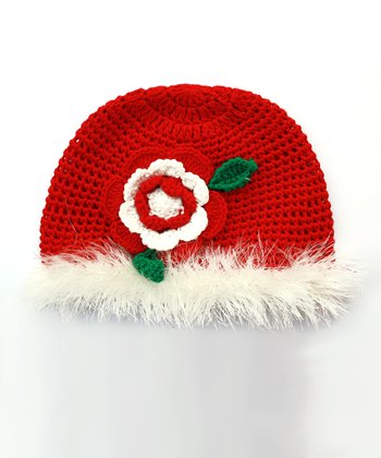 Merry Flower Crocheted Beanie