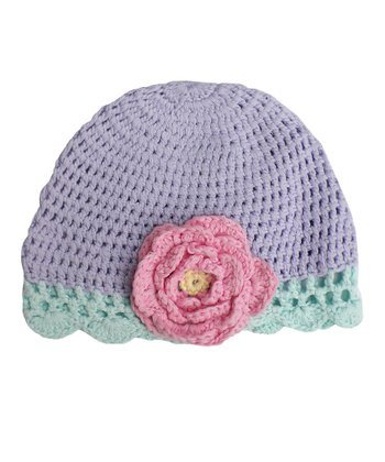 Sherbet Rose Crocheted Cloche Beanie