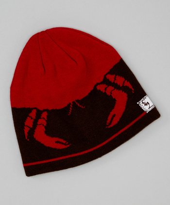 Brown & Orange Crab Beanie