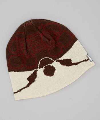 Brown & White Turtle Beanie