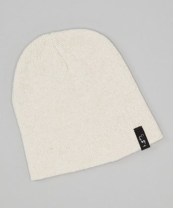 Natural White Beanie