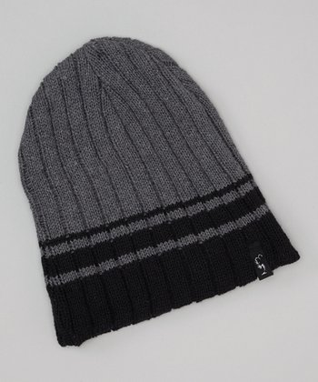 Navy & Gray Knit Beanie