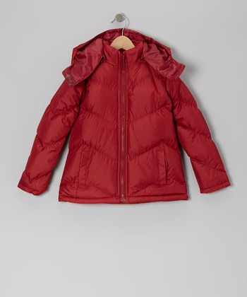 Garnet Puffer Coat - Girls