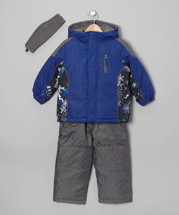 Blue & Khaki Jacket Set - Boys