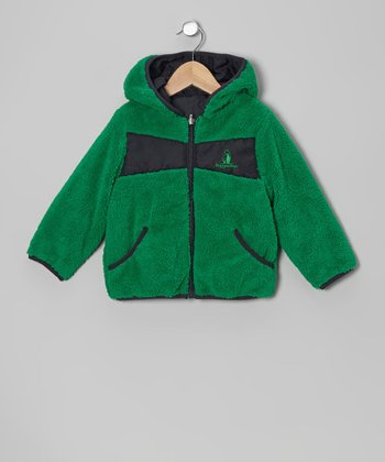 Green Fleece Hooded Jacket - Infant