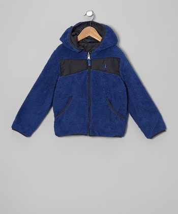 Royal Blue Fleece Hooded Jacket - Boys