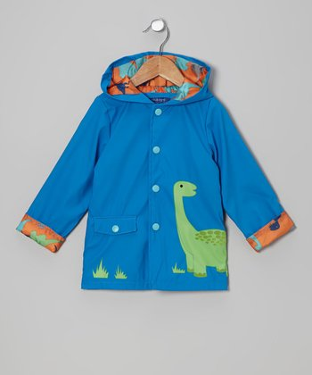 Royal Blue Dinosaur Jacket - Infant & Toddler