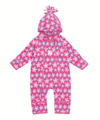 Pink Daisy Polar Fleece Bunting - Infant & Toddler