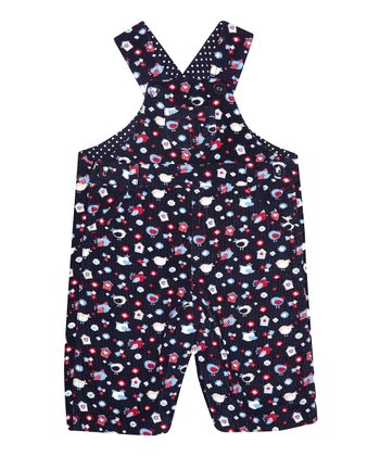Navy Bird Corduroy Overalls - Infant & Toddler