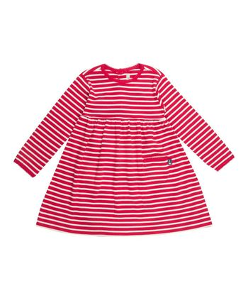 Red & Cream Stripe A-Line Dress - Infant, Toddler & Girls